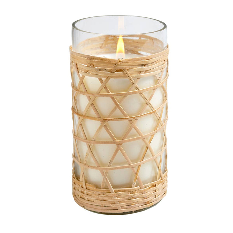Sea and Salt Bamboo Candle in Glass