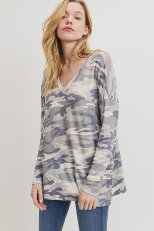 Camo Thermal V-Neck