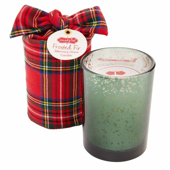 Tartan Wrapped Mercury Candle
