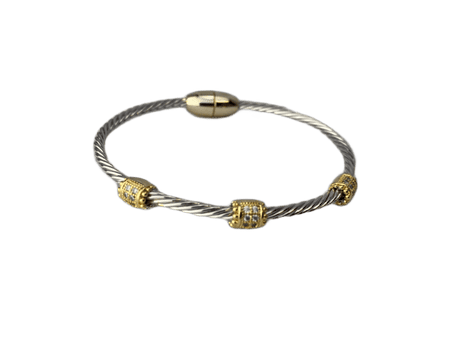 Inspired Silver and Gold Bracelet