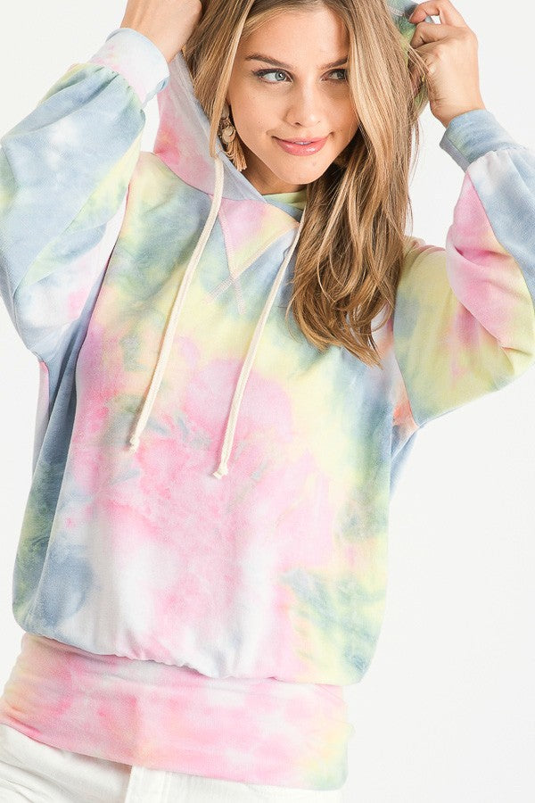 Tie dyed hooded Top