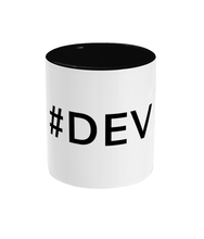 Load image into Gallery viewer, Two-Toned Black #Dev Mug
