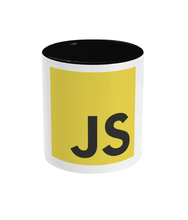 Load image into Gallery viewer, Two Toned Black JavaScript Mug