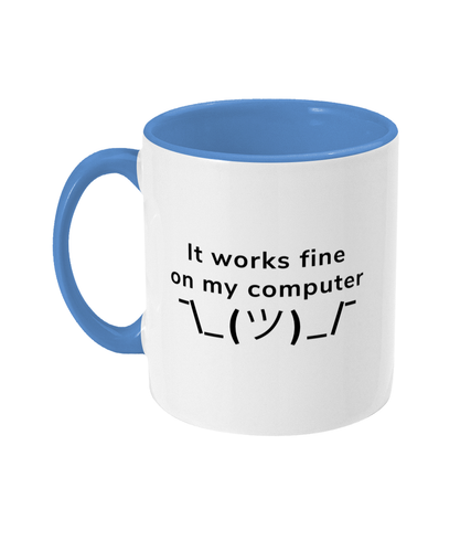 #1 Programmer Sayings Two Toned Mug