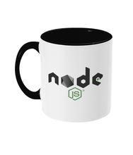 Load image into Gallery viewer, Two Toned Mug Black NodeJS Mug #2