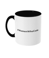 Load image into Gallery viewer, #WomenWhoCode Two Toned Mug