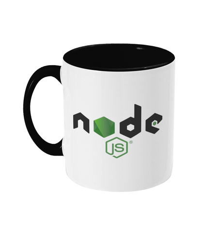 Two Toned Mug Black NodeJS Mug #1