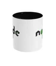Load image into Gallery viewer, Two Toned Mug Black NodeJS Mug #1