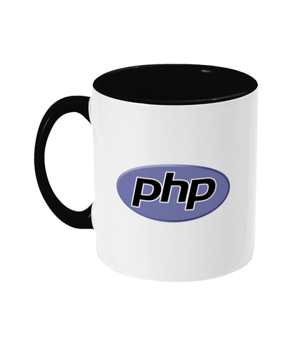 Two Toned Black/White PHP Logo Mug