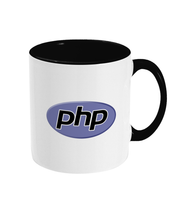 Load image into Gallery viewer, Two Toned Black/White PHP Logo Mug