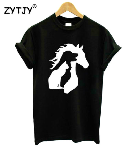 Horse Dog Cat Silhouette Tee
