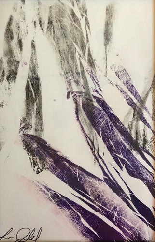 Abstract Mono print purple