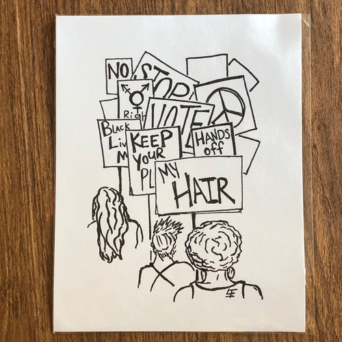 Protest art stickers (pack of 3)