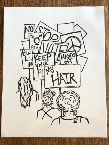 Small protest art print