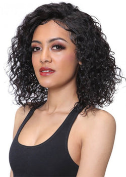 Sexy Women's Medium Capless Hairstyles Kinky Curly Synthetic Hair Wigs 16Inches
