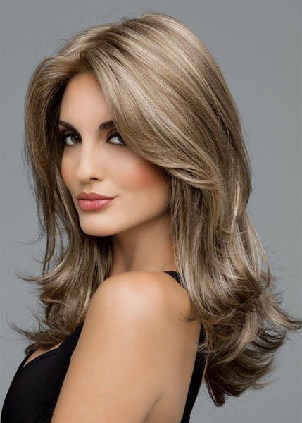 Capless Synthetic Hair Wavy 22 Inches Wigs