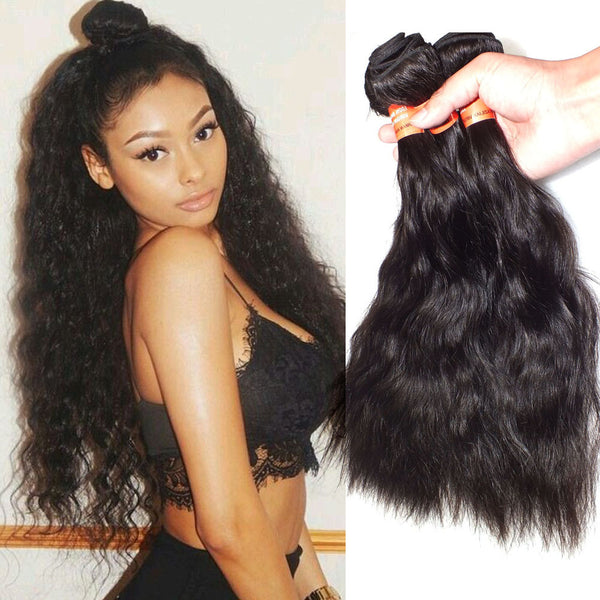 Virgin Hair Brazilian Natural Wave Human Hair Extensions 1Pack