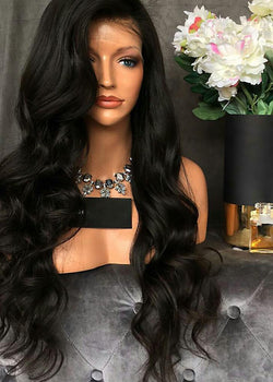 Women Wavy Long Lace Front Free Part High Temperature Synthetic Wig