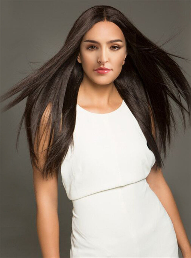 Long Straight Wigs 26 Inches Capless Synthetic Hair