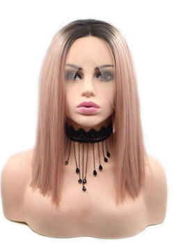 Long Bob Hairstyle Capless Women Straight Synthetic Hair Wigs