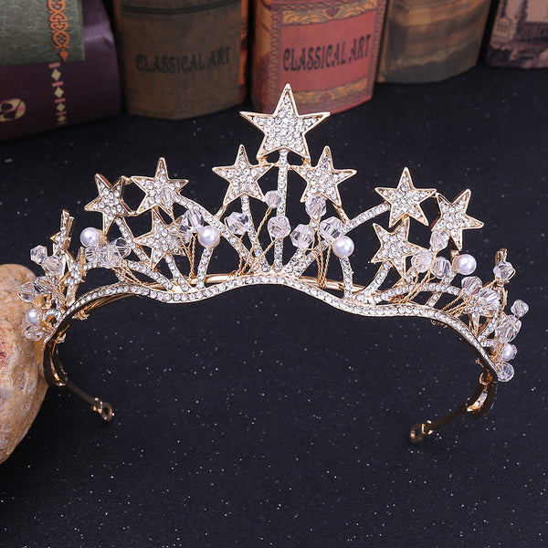 Beautiful Rhinestone Pentagram Tiara Crown Hair Accessories (Wedding)