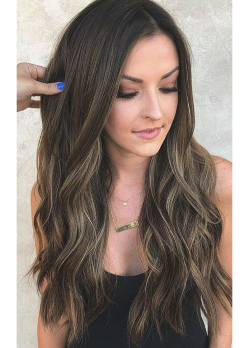 Women Synthetic Hair Wavy Lace Front Cap 26 Inches Wigs