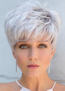 White Short 10 Inches Synthetic Hair Women Wigs