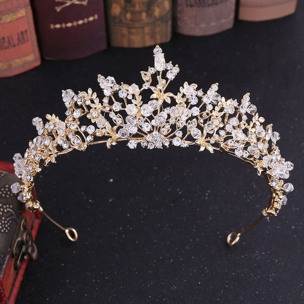 Beautiful Crystal Glass Diamond Tiara Crown Hair Accessories (Wedding)
