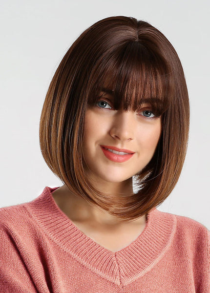 Synthetic Hair Capless Natural Straight Women 12 Inches Wigs
