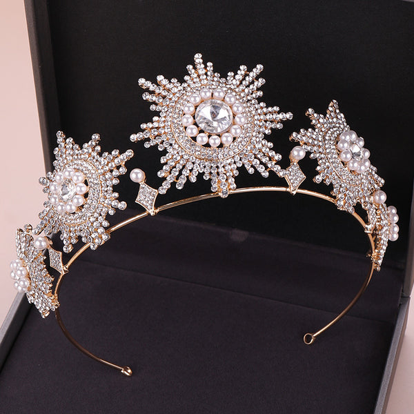 Bridal Wedding Dress Accessories Rhinestone Headband Tiara Crown Hair Accessories