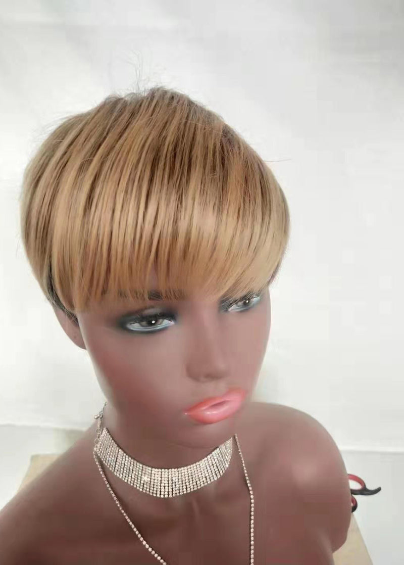European And American Ladies Short Straight Hair Bobo Hairstyle Synthetic Wigs