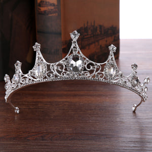 Korean Gemmed Tiara Hair Accessories (Wedding)