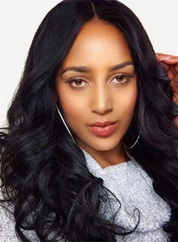 Synthetic Hair Capless Wavy Wigs 18 Inches For Black Women