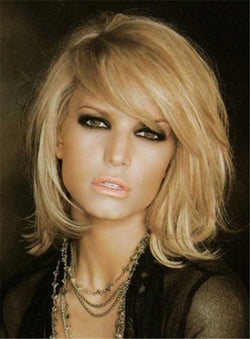 Shaggy Layered Nature Free Part Synthetic Hair Capless Women Straight 12 Inches Wigs