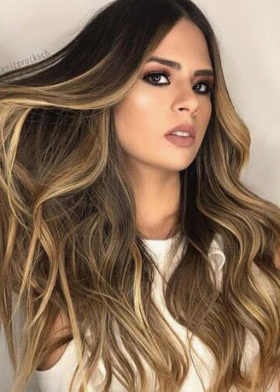 Wavy Synthetic Hair Lace Front Cap Women Long Wigs