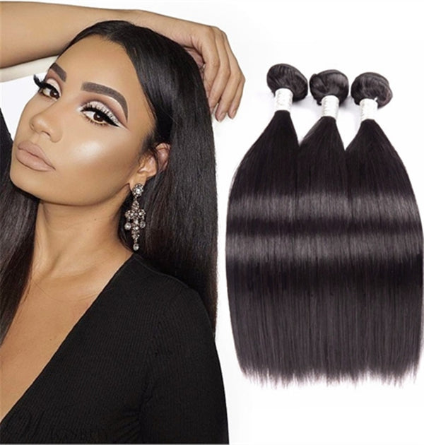 Brazilian Virgin Straight Human Hair Bundles Straight Hair Extensions 3 Bundles