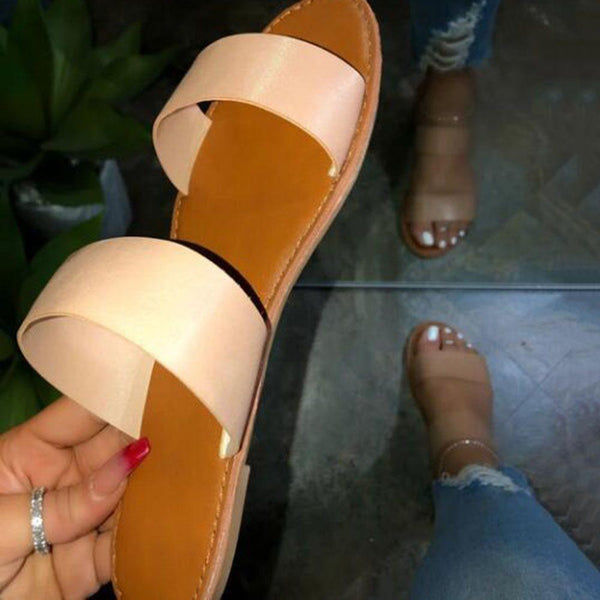 Chunky Heel See-Through Flip Flop Slip-On Casual Casual Slippers