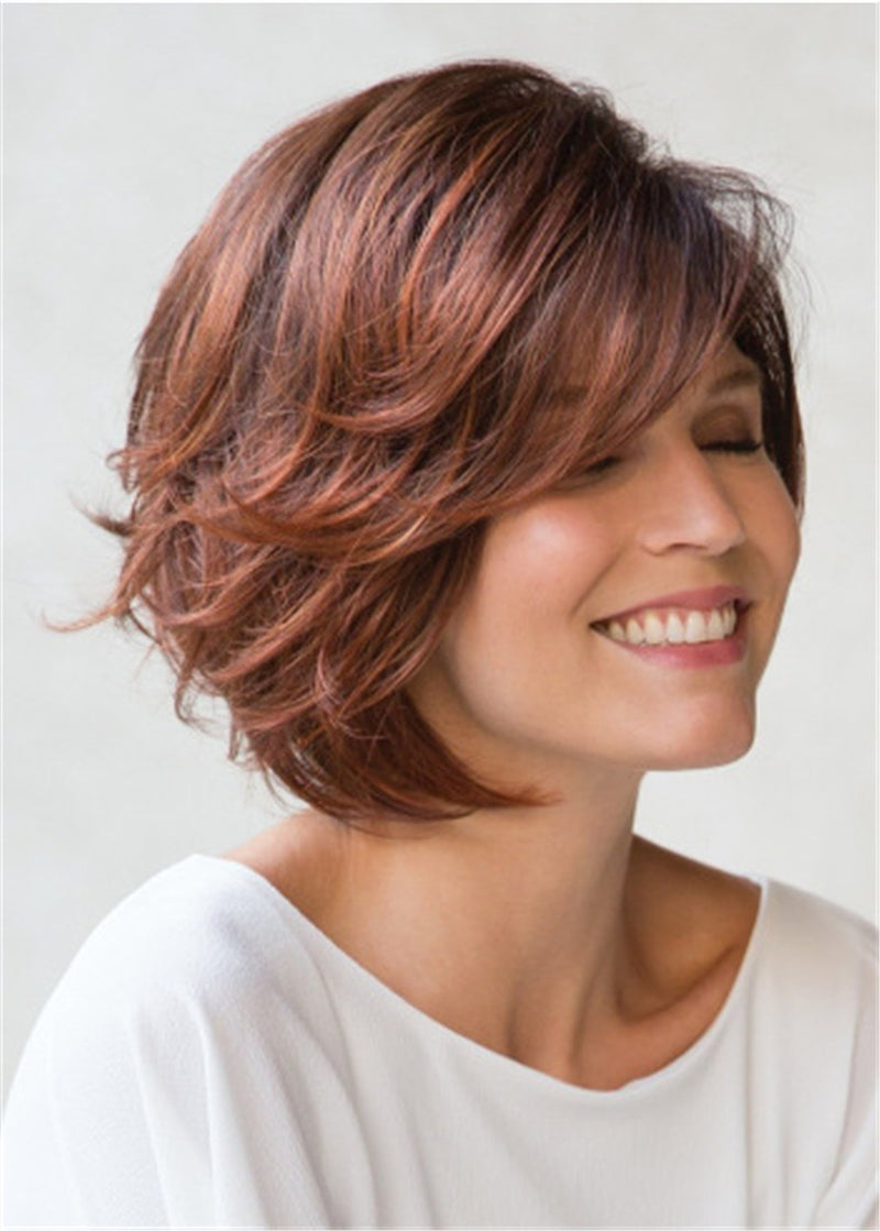 Bob Wavy Hairstyle Synthetic Hair Caples Wig