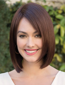 Brown Bob Hairstyle Straight Synthetic Hair 12 Inches Wigs
