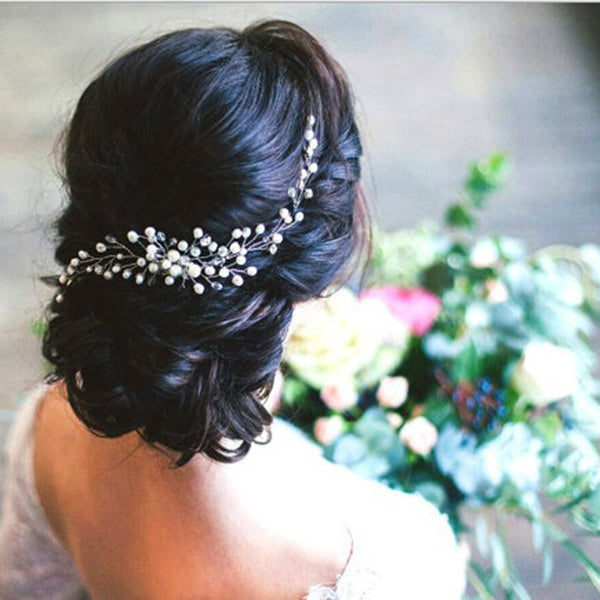 Head Flower Handmade Wedding Bride Hair Accessories Pearl Tiara
