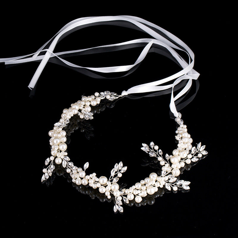 Handmade Pearl Headband Bridal Headdress Hair Accessories (Wedding)