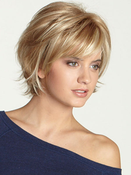 Human Hair Short Women  30/613 Capless Wavy 12 Inches Wigs
