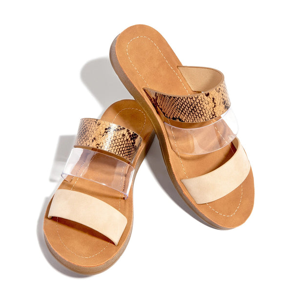 Flip Flop Slip-On See-Through Flat With Summer Slippers
