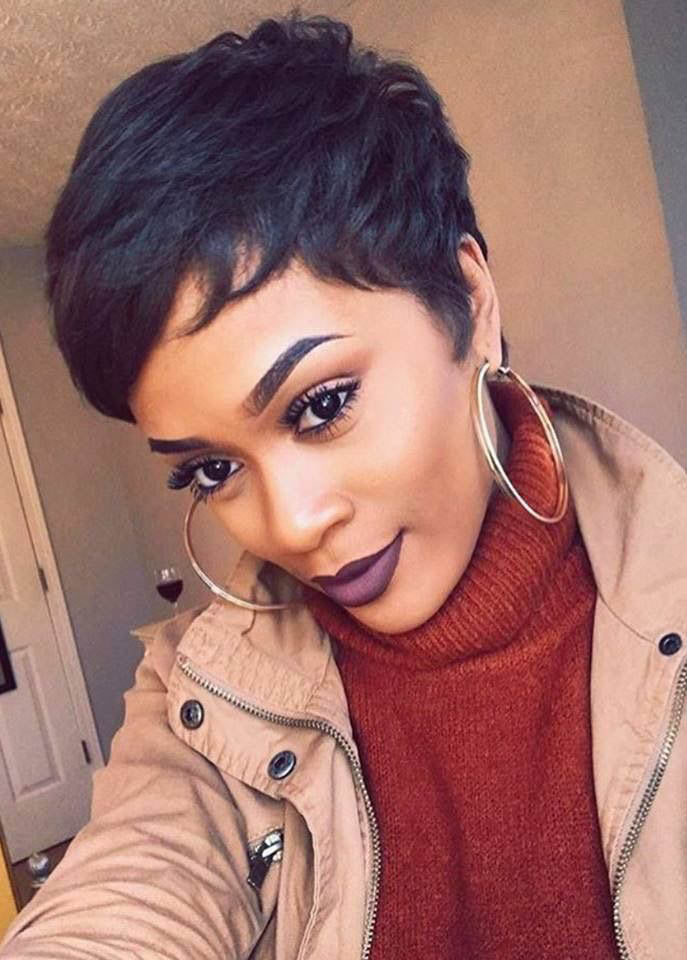 Natural Black Short 6 Inches Straight Human Hair Wigs WIth Side Part Bangs
