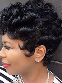 Fashion Capless Curly Synthetic Hair Short Wigs For Women
