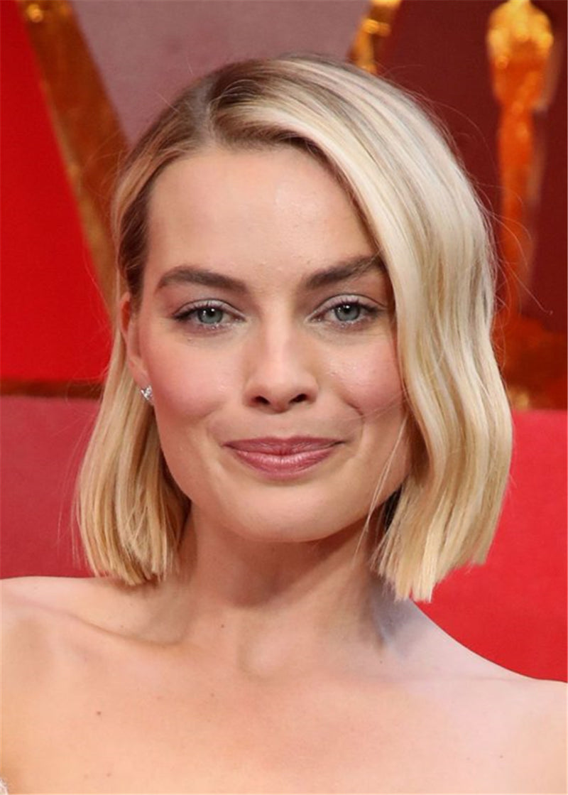 Blunt Wavy Bob Synthetic Hair Capless Wigs