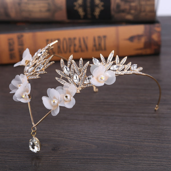 White Flower Headband Bridal Headdress Hair Accessories (Wedding)