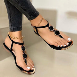Slip-On Thong Flat With Sequin Casual Sandals