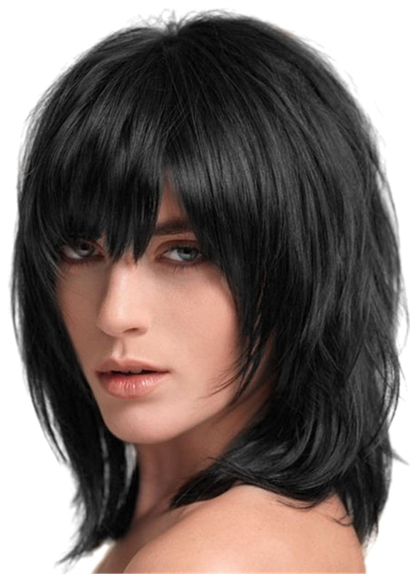 12 Inches Capless Straight Synthetic Hair Wigs