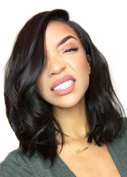 Short Hair Natural Wavy Best Lace Front Synthetic